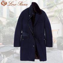 Loro Piana Stand Collar Coats Cashmere Plain Long Chester Coats