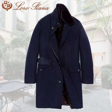 Stand Collar Coats Cashmere Plain Long Chester Coats