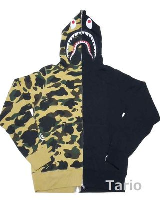 Camouflage Street Style Long Sleeves Cotton Hoodies