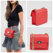 VALENTINO Casual Style Street Style Chain Plain Shoulder Bags