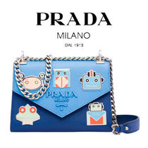 PRADA Casual Style Street Style 2WAY Chain Other Animal Patterns