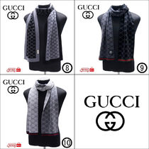GUCCI Unisex Wool Scarves