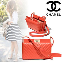 CHANEL Lambskin Party Style Shoulder Bags