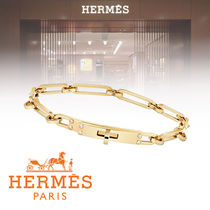 HERMES Kelly Chain With Jewels Elegant Style Bracelets