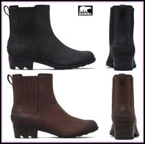 SOREL Round Toe Leather Boots Boots