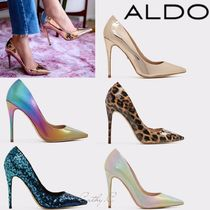 ALDO Leopard Patterns Blended Fabrics Pin Heels Elegant Style