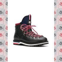 MONCLER Stripes Mountain Boots Street Style Plain Leather