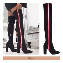 SIMMI Stripes Casual Style Street Style Chunky Heels