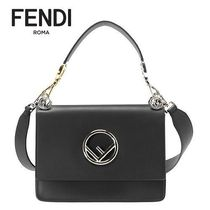 FENDI KAN I Calfskin 2WAY Plain Handbags
