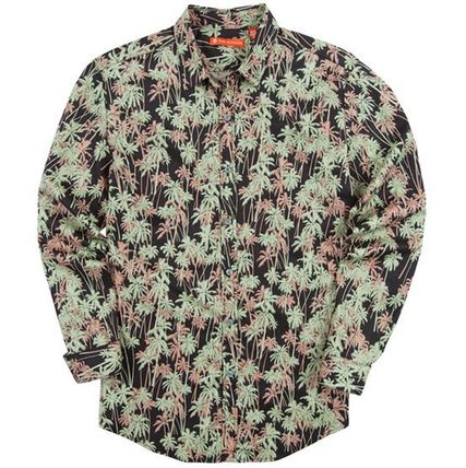 Tropical Patterns Long Sleeves Cotton Shirts