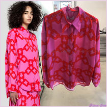 MSGM Long Sleeves Medium Elegant Style Shirts & Blouses