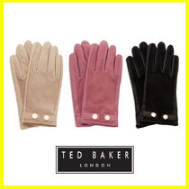 TED BAKER Plain Leather Elegant Style Leather & Faux Leather Gloves