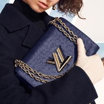 Louis Vuitton TWIST Blended Fabrics 2WAY Plain Leather Elegant Style Crossbody