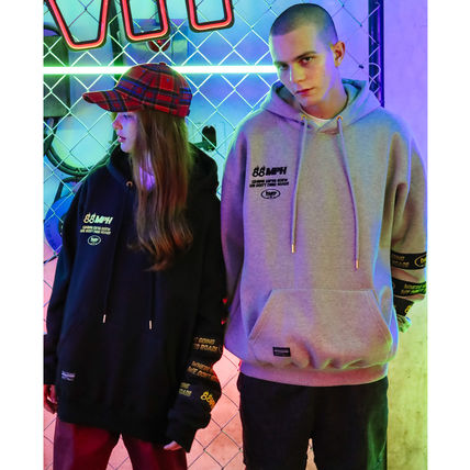 TWN Hoodies Unisex Street Style Long Sleeves Plain Cotton Oversized 4