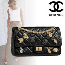 CHANEL MATELASSE Calfskin Blended Fabrics 2WAY Chain Plain