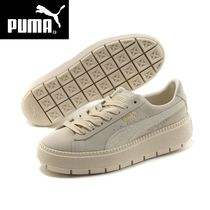 PUMA SUEDE Casual Style Unisex Suede Low-Top Sneakers