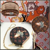 Louis Vuitton MONOGRAM Chain Other Animal Patterns Coin Purses