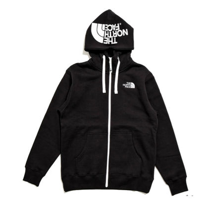 THE NORTH FACE Hoodies Unisex Street Style Long Sleeves Plain Hoodies 2