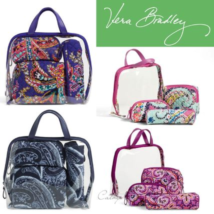 Flower Patterns PVC Clothing Pouches & Cosmetic Bags