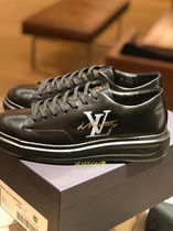 Louis Vuitton MONOGRAM Blended Fabrics Plain Leather Special Edition Sneakers