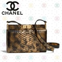CHANEL Blended Fabrics 2WAY Plain Leather Elegant Style Clutches