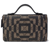 GUCCI Other Check Patterns Unisex PVC Clothing Clutches