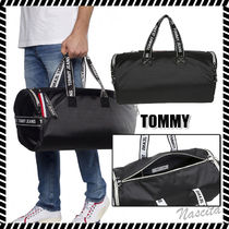 Tommy Hilfiger Street Style A4 2WAY Plain Oversized Boston Bags