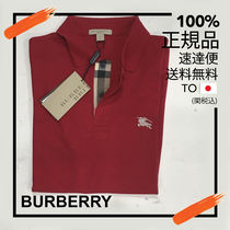 Burberry Brit Burberry Brit Military Red Check Placket Cotton Polo Shirt