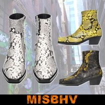 MISBHV Street Style Other Animal Patterns Leather Boots