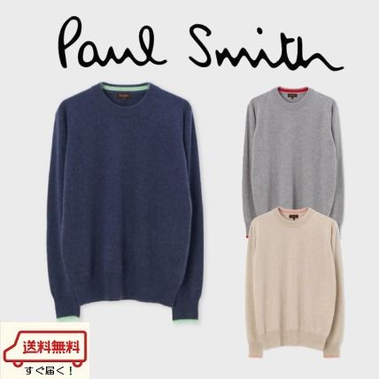 Paul Smith Knits & Sweaters Crew Neck Cashmere Long Sleeves Plain Knits & Sweaters