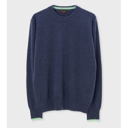 Paul Smith Knits & Sweaters Crew Neck Cashmere Long Sleeves Plain Knits & Sweaters 2