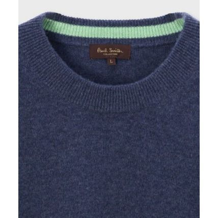 Paul Smith Knits & Sweaters Crew Neck Cashmere Long Sleeves Plain Knits & Sweaters 3