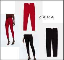 ZARA Plain Cotton Skinny Pants