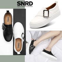 paperplanes Round Toe Rubber Sole Casual Style Faux Fur Plain