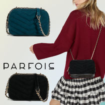 PARFOIS Casual Style Suede Blended Fabrics Chain Plain Shoulder Bags