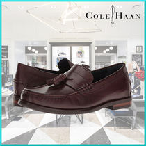 Cole Haan Loafers Tassel Plain Leather U Tips Loafers & Slip-ons