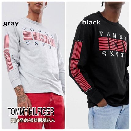 ... Tommy Hilfiger Long Sleeve Crew Neck Pullovers Street Style Long Sleeves  Cotton ... 3f6084c59e