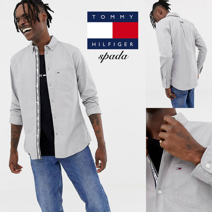 a7173fc9e8723 ... Tommy Hilfiger Shirts Button-down Street Style Long Sleeves Plain  Cotton Shirts ...