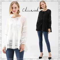Chicwish Crew Neck Dots Casual Style Long Sleeves Medium