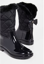 kate spade new york Round Toe Faux Fur Rain Boots Boots