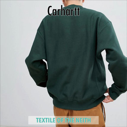Carhartt Sweatshirts Crew Neck Sweat Street Style Long Sleeves Oversized 2