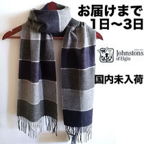 Johnstons Other Check Patterns Unisex Cashmere Heavy Scarves & Shawls