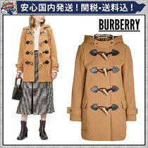Burberry Other Check Patterns Wool Plain Medium Duffle Coats