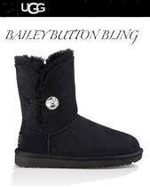 UGG Australia BAILEY BUTTON Round Toe Rubber Sole Casual Style Sheepskin Street Style