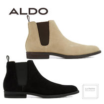 ALDO Plain Toe Plain Leather Chelsea Boots Oversized