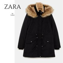 ZARA Casual Style Plain Medium Parkas