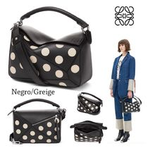 LOEWE PUZZLE Dots Casual Style Calfskin 2WAY Shoulder Bags