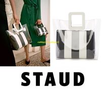 STAUD Casual Style A4 Plain PVC Clothing Bags
