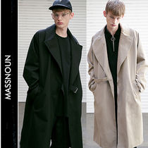 MASSNOUN Street Style Long Trench Coats