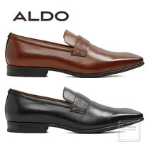 ALDO Plain Toe Loafers Plain Leather Oversized Loafers & Slip-ons